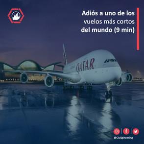 Adiós a uno de los vuelos más cortos del mundo