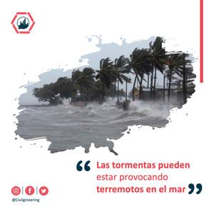 Las tormentas pueden estar provocando terremotos en el mar