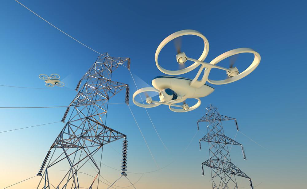 Drones en la ingeniería eléctrica