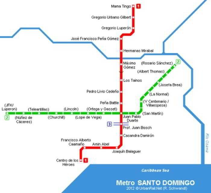 Líneas del metro de Santo Domingo