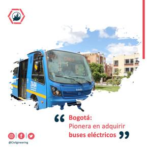 Bogotá: Pionera en adquirir buses eléctricos