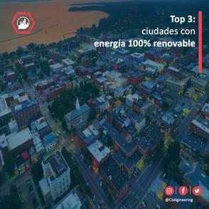 Top 3: Ciudades con energía 100% renovable