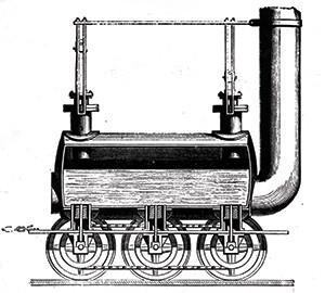 locomotora de vapor de George Stephenson