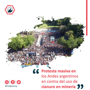 Protesta masiva en los Andes argentinos en contra del uso de cianuro en minería