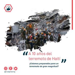 10 Aniversario del terremoto de Haiti 2010