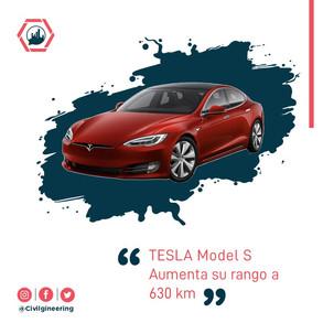 TESLA Model S: Aumenta su rango a 630 km