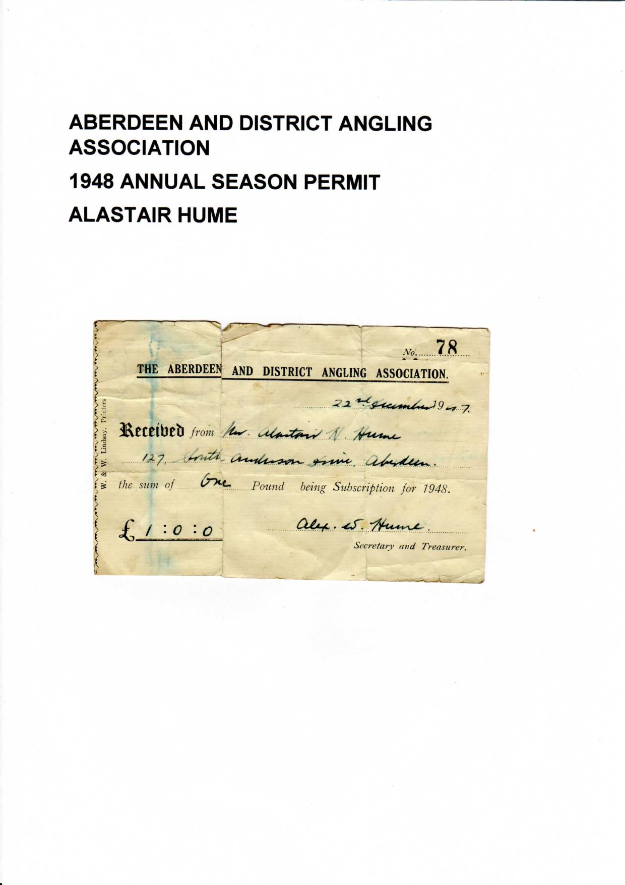 1948 adaa permit Alastair Hume-page-001