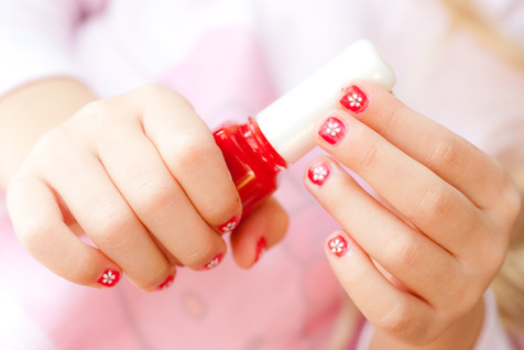 Flower Painted Nails