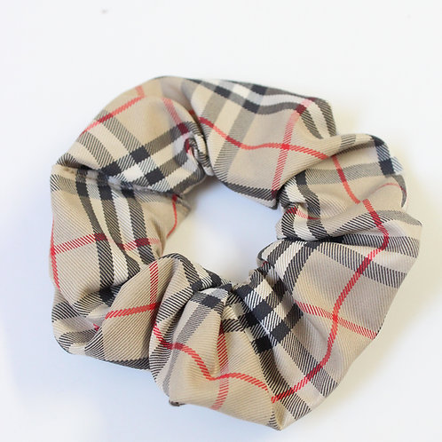 Up-cycled Burberry Scrunchie