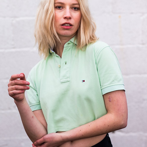 Up-cycled Tommy Hilfiger Mint Green Polo