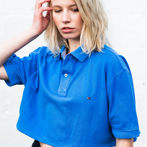 Up-cycled Tommy Hilfiger Blue Polo