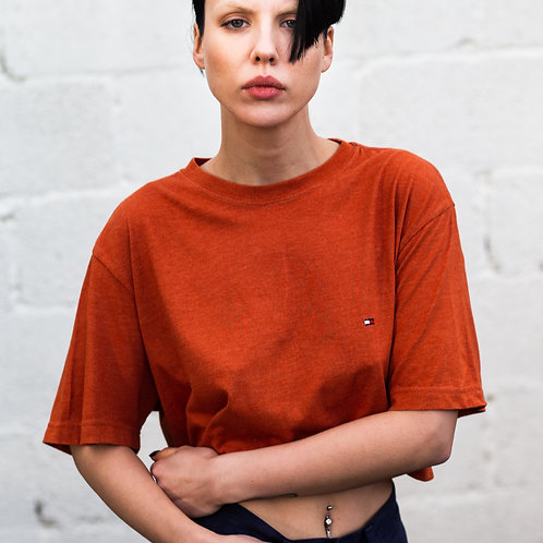 Up-cycled Tommy Hilfiger Orange Tee