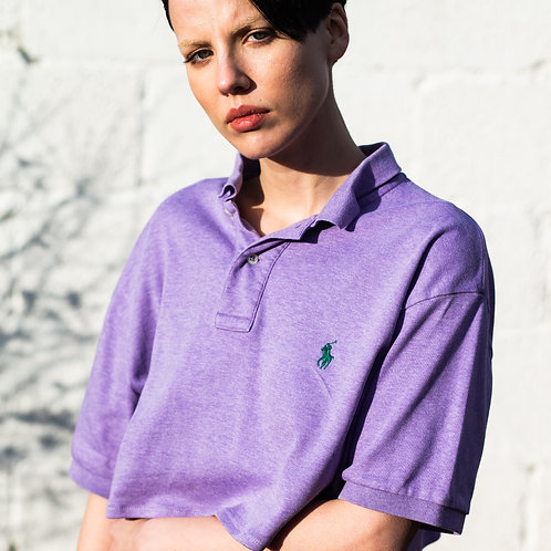 Up-cycled Ralph Lauren Purple Polo