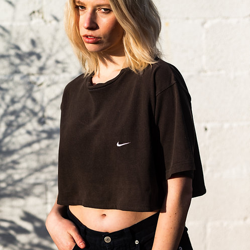 Nike Brown Cropped Top