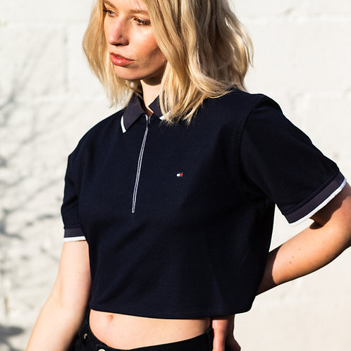 Up-cycled Tommy Hilfiger 3/4 Zip Polo