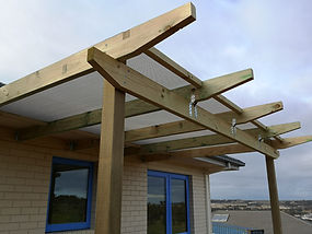 Timber pergola Darley bacchus marsh plum