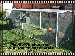 mobile chicken run, chicken coop, moveable chicken coop