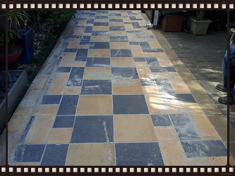 400mm Concrete pavers charcoal backyard ideas