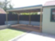 Barakula Gum Deck with Timber framed Pergola