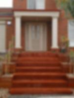 Merbau stairs with planter boxes Melton