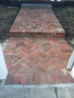 45 degree red solid bricks herringbone b