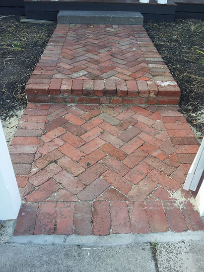 45 degree red solid bricks herringbone b