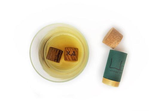 Персонално гравирани дъбови кубчета  за уиски - WooWhiskey