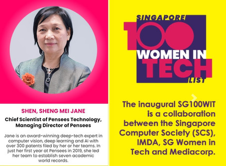 Honoured to be a part of SG 100 Women in Tech