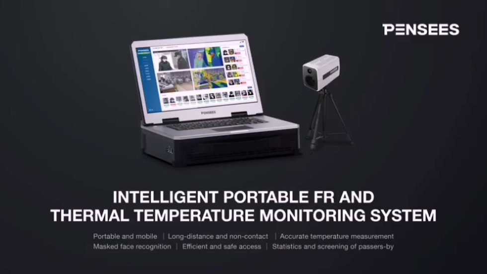 Intelligent Portable Facial Recognition and Thermal Temperature Monitoring System