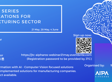 "Pensees speaks at ""AI Applications for Manufacturing Sectors""organised by AI Pharos supported by JTC"