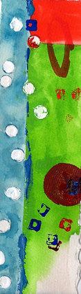 Watercolor Bookmark 26