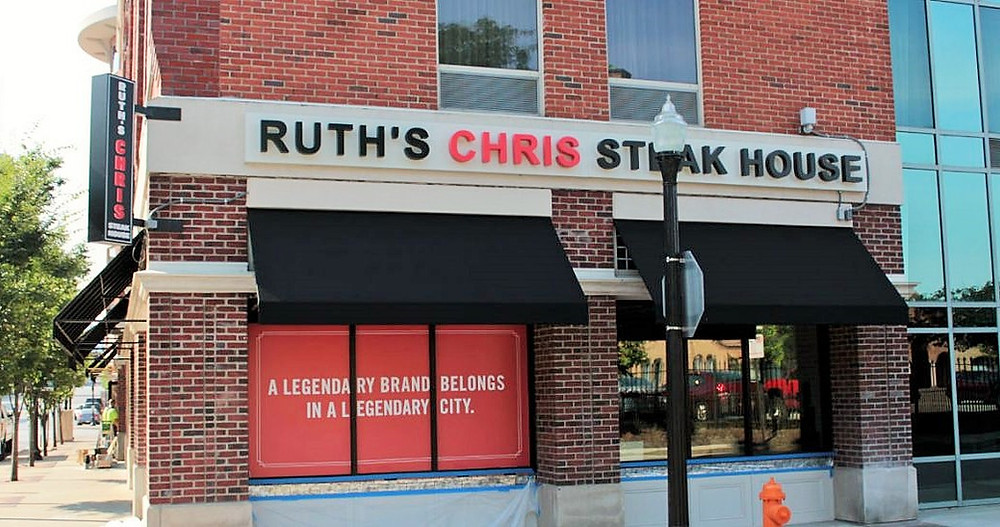 Commercial Art at Ruth's Chris Restaurant in the Short North Arts District Downtown Columbus, Ohio