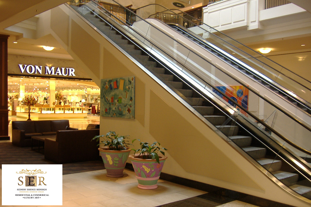 Permanent Collection, Original Abstract Painting, (SER) Scenery Essence Redesign, Ltd art at Polaris Fashion Place Mall