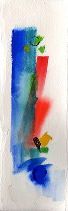 Watercolor Bookmark 27