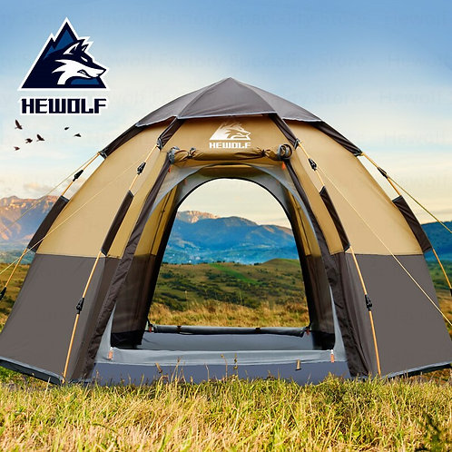 Hewolf Outdoor Double-Layer  Family Automatic Tent 5-8 Persons