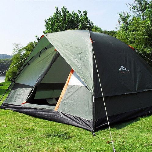 Double Layer Camping Tent Outdoor 3-4 Person Windbreak Waterproof Tents