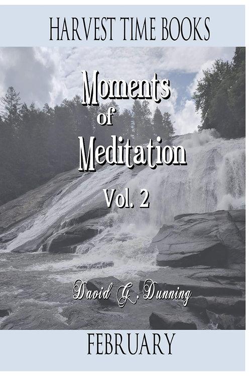 Moments of Meditation- February