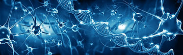 dna double helix, blue