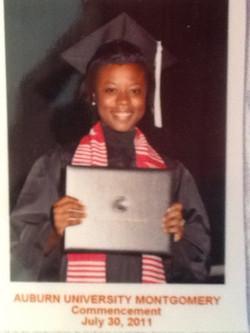 Megan, graduation day, AUM