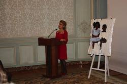 Géraldine Chouard making remarks
