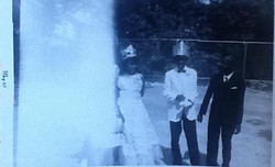 My uncle, Joseph Richardson, as May Day King at BTW with the May Day Queen, a girl named Mary