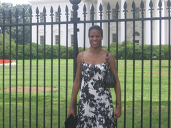 In front of the White House in 2009