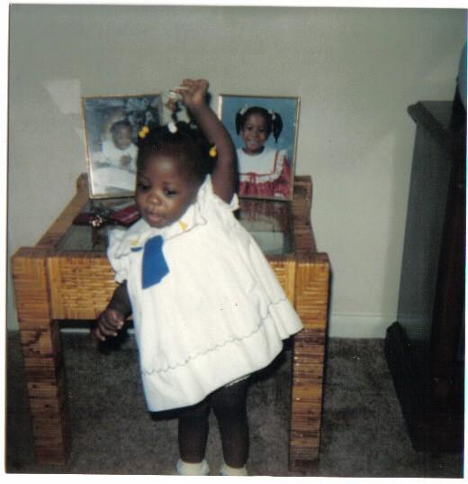 Megan Smith as a toddler