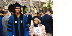 My grandmother and me at Duke