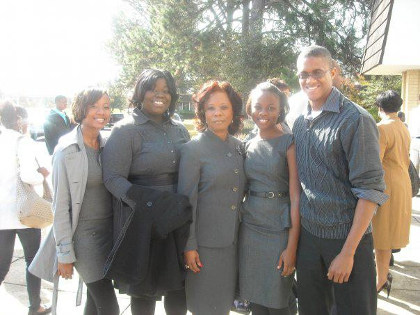 After mass at Resurrection in 2009