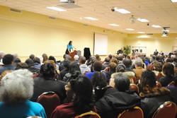 Speaking at Rosa Parks' birthday