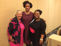 With Dr. Harper and Philathia Bolton