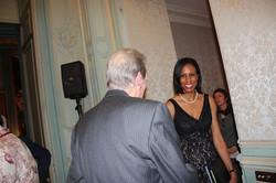 Meeting guests at Ambassador's