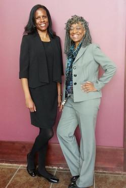 With Spelman sister Brunetta Garrard