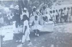 My uncle, Joseph Richardson, as May Day King at BTW Elementary in sixth grade, with May Day Queen